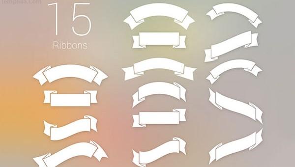 دانلود 15 طرح روبان به صورت لایه باز