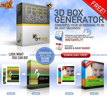 تبدیل تصاویر به جعبه های سه بعدی با 3D Box Generator Action