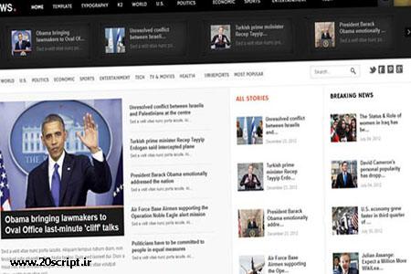 قالب خبری GK News برای جوملا 2.5
