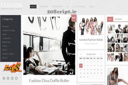 قالب GK Fashion برای جوملا 2.5 , 3.0