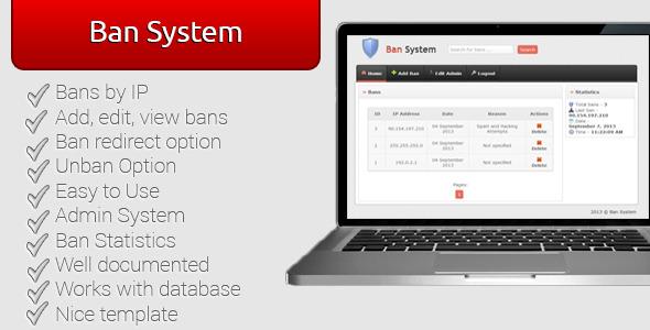 اسکریپت مسدود کردن کاربران Ban System