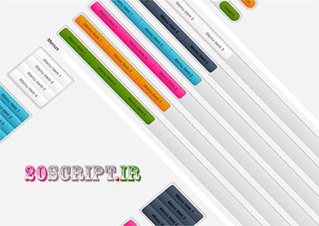 مجموعه دکمه های طراحی وب سایت به صورت CSS3