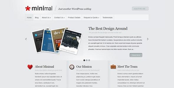 ElegantThemes Minimal قالب وردپرس Minimal نسخه 4٫7 الگانت تم