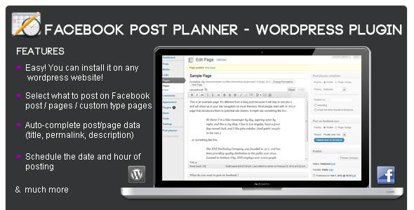 افزونه ارسال مطلب به فیسبوک با Facebook Post Planner