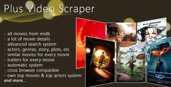 اسکریپت فروشگاه فیلم Plus Video Scrapper نسخه 1.9