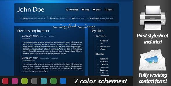 ارائه آنلاین رزومه کاری حرفه ای