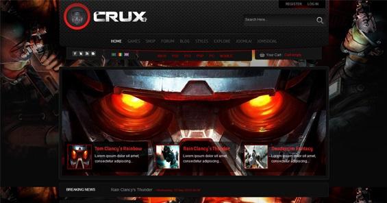 قالب بازی و گیم Shaper Crux برای جوملا