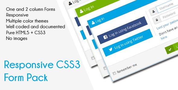 فرم واکنش گرا ورود و ثبت نام به صورت CSS3