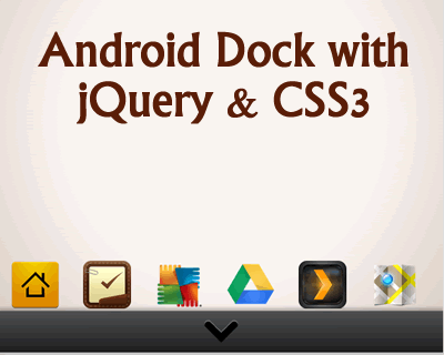 ایجاد منوی اندروید با استفاده از jQuery و CSS3