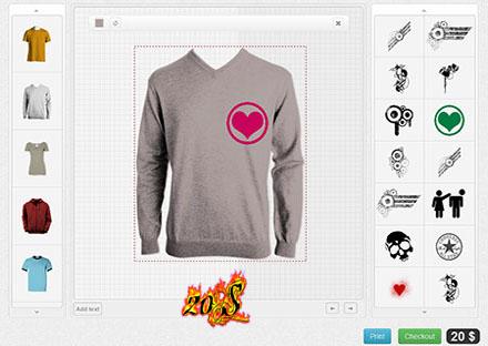 طراحی و سفارش تیشرت به صورت آنلاین با Fancy Product