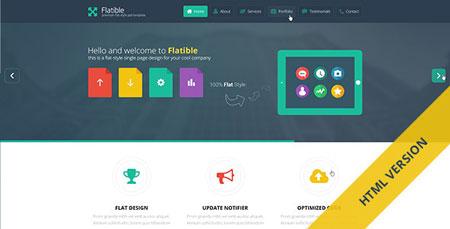 قالب زیبای Flatible به صورت HTML و CSS