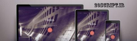 قالب زیبا helios به صورت HTML5