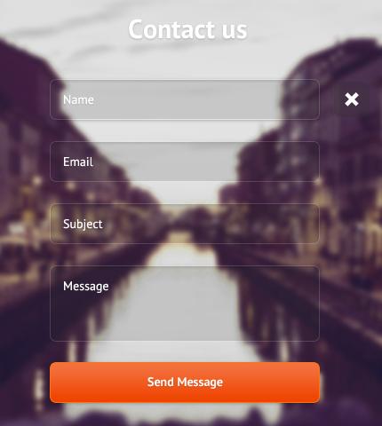 فرم زیبای تماس باما با پس زمینه اسلایدر CSS3 / HTML5 + PSD