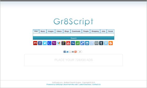 اسکریپت ایجاد سایت جستجوگر محتوا Gr8 Multiple Search