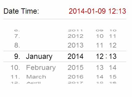 افکت زمان و تاریخ مشابه iOS 7 به صورت جی کوئری