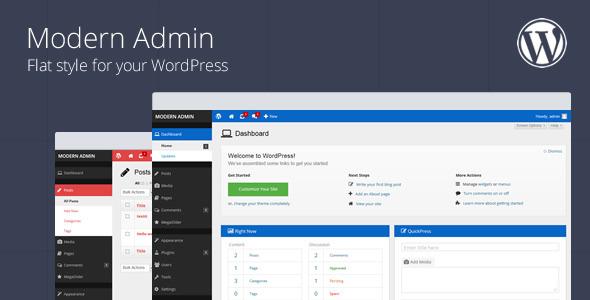 inline preview پوسته مدرن برای قسمت مدیریت وردپرس