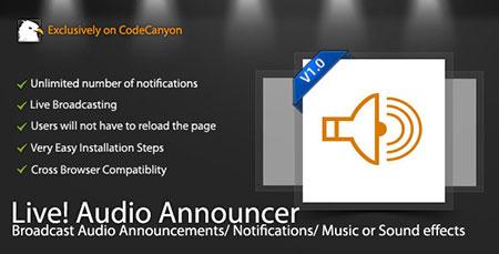 live radio اسکریپت ایجاد رادیو آنلاین Live Audio Announcer