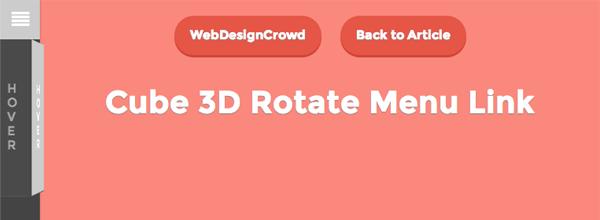 منو چرخشی مکعب ی شکل 3D به صورت CSS3