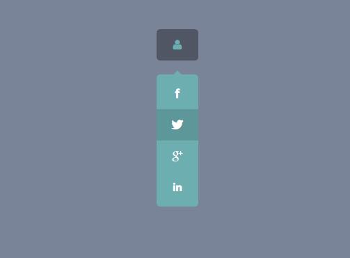منوی اجتماعی بسیار زیبای CSS3
