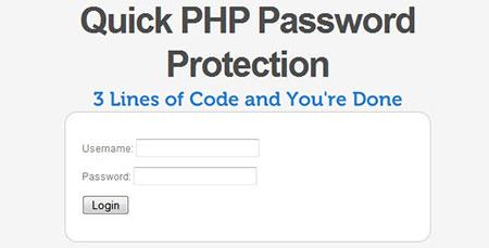 اسکریپت رمز گذاری بر روی صفحات وب سایت با Quick PHP