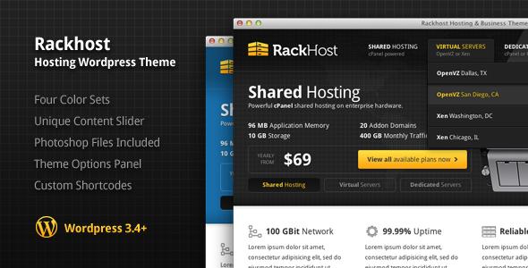 قالب میزبانی وب Rackhost نسخه 1.4 برای وردپرس