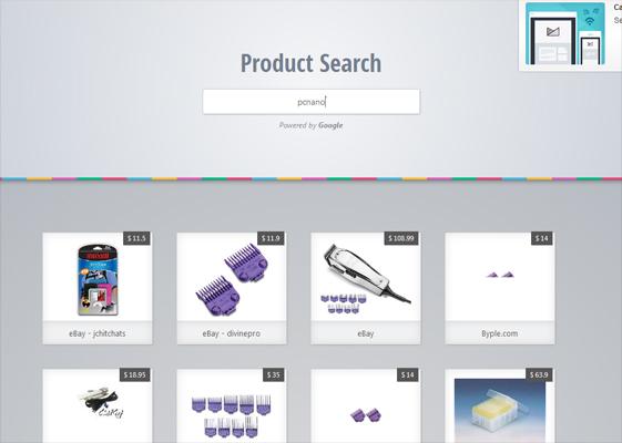 اسکریپت جستجو با Product Search