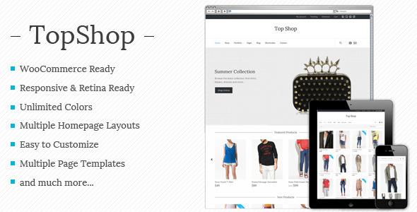 top shop قالب فروشگاه چند منظوره Top Shop برای ووکامرس