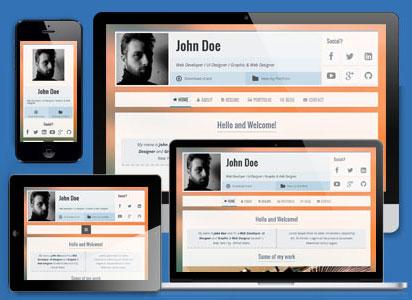 قالب صفحه شخصی vCard زیبا با نام VOXR