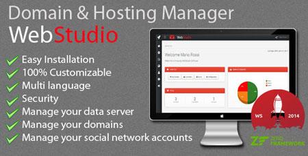 اسکریپت مدیریت حساب کاربری هاست و دامنه Web Studio