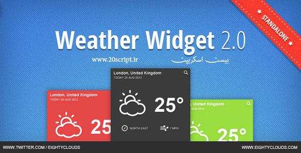 دانلود ویجت حرفه ای آب و هوا J.B.Weather Widget 2.0