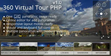 ساخت تور مجازی 360 درجه با اسکریپت 360 Virtual Tour PHP