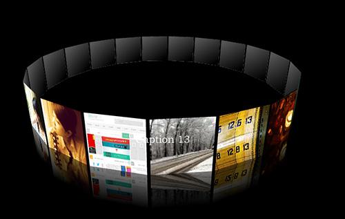اسکریپت گالری تصاویر سه بعدی با طراحی فلش