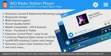 اسکریپت پخش کننده رادیویی AIO Radio Station Player