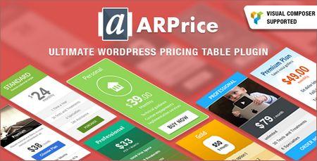 افزونه جدول های قیمت گذاری با ARPrice برای وردپرس