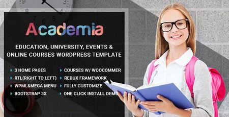 قالب مرکز آموزشی آکادمیا Academia برای وردپرس