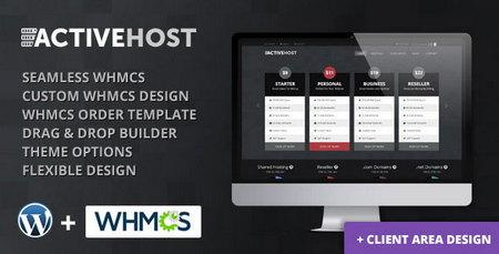 دانلود قالب هاستینگ Active Host نسخه وردپرس و WHMCS