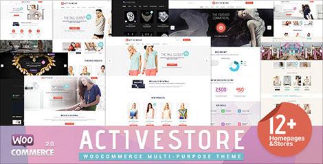 قالب فروشگاهی ActiveWear v1.1 با 12 HomePage برای ووکامرس