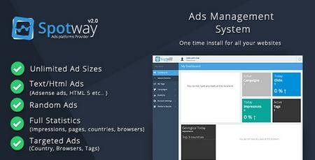 اسکریپت مدیریت تبلیغات و آگهی SpotWay نسخه 2.0 | بیست اسکریپت... نمائید همچنین به راحتی میتوانید یک کمپین تبلیغاتی ایجاد ،کمپین ها را مدیریت ، آمار روزانه را کنترل نمائید. به برخی از ویژگی های این اسکریپت اشاره میکنیم