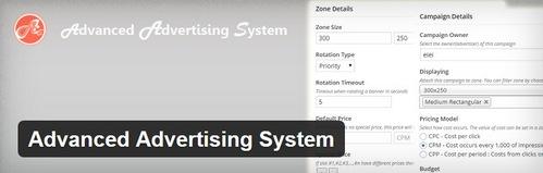 افزونه وردپرس مدیریت تبلیغات Advanced Advertising System
