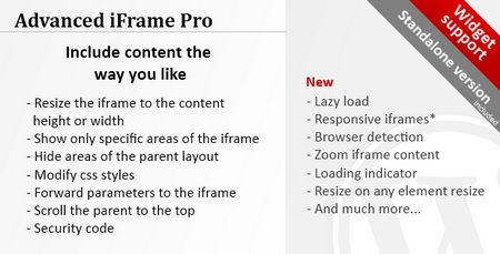 افزونه آی فریم پیشرفته برای وردپرس با Advanced iFrame Pro نسخه 7.6