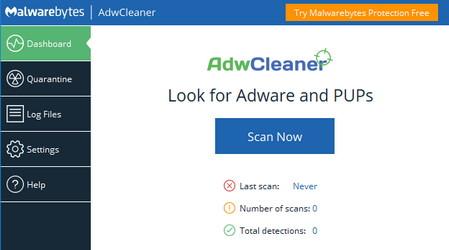 دانلود نرم افزار حذف آسان بدافزارها و عناصر تبلیغاتی از سیستم AdwCleaner