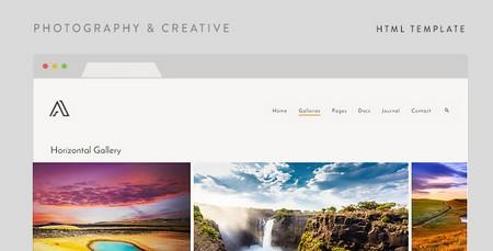 قالب HTML خلاقانه و عکاسی Airy نسخه 1.5
