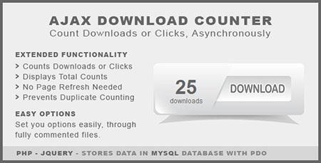 اسکریپت نمایش تعداد دانلود ها Ajax Download Counter