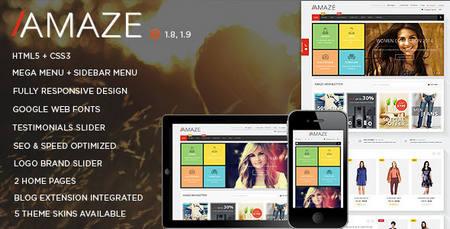 دانلود قالب فروشگاهی و زیبای مجنتو Amaze نسخه ۱.۷