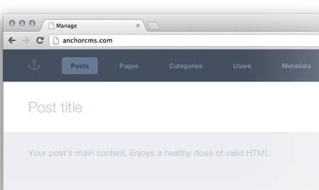 دانلود اسکریپت مدیریت محتوای لنگر Anchor