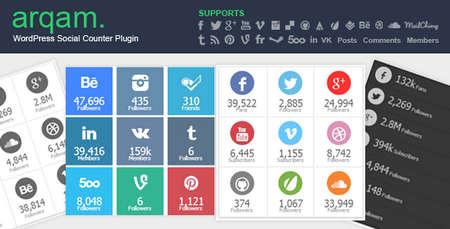 افزونه فارسی شمارنده شبکه های اجتماعی Arqam برای وردپرس