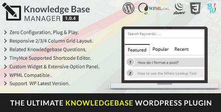 افزونه ایجاد وب سایت دانشنامه BWL Knowledge Base Manager برای وردپرس
