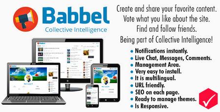 اسکریپت شبکه اجتماعی و اشتراک گذاری مطلب Babbel نسخه ۱٫۳