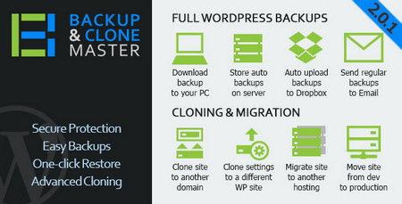 افزونه پشتیبان گیری وردپرس Backup & Clone Master