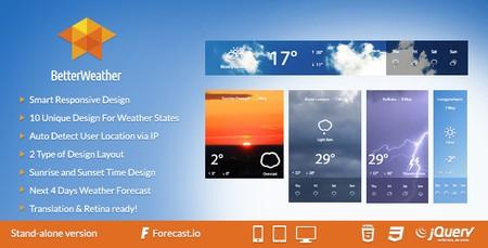 اسکریپت نمایشگر وضعیت آب و هوا Better Weather